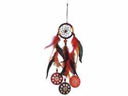 Bild von Dreamcatcher BW/Kokos orange 6 cm