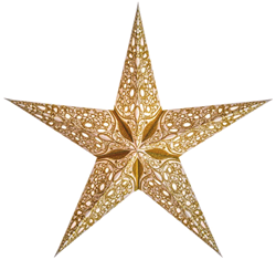 Bild von starlightz raja small gold earth friendly Leuchtstern