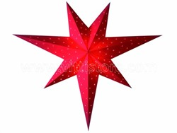 Bild von starlightz twinkle red earth friendly Leuchtstern